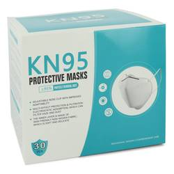 Kn95 Face Mask Thirty (30) KN95 Masks, Adjustable Nose Clip, Soft non-woven fabric, FDA and CE Approved (Unisex) By Kn95